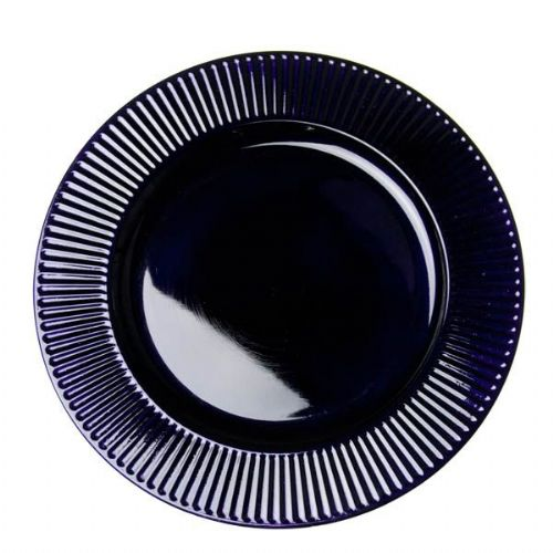 PURPLE Bevelled Rim Round Charger Plate - 33cm